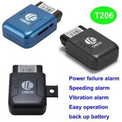 Obdii GPS du véhicule Tracker périphérique avec alarme de défaillance d'alimentation T206