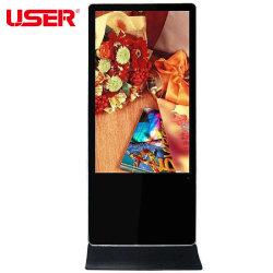 43 インチスクリーンフル HD フロアスタンドデジタルサイネージキオスクホテルバンクショッピングモール用屋内広告プレーヤーディスプレイ