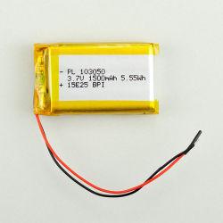 Li-polymeer 3.7V 1500mAh de Li-IonenBatterij van Lipo van het Polymeer van het Lithium van de Batterij 5.55wh van het Polymeer