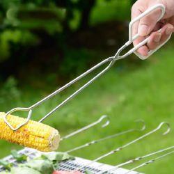 Manche recouvert de plastique de maïs alimentaire Barbecue Tong