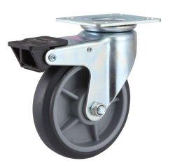 Le rotelle superiori a uso medio di casti del piatto TPR si raddoppiano freno