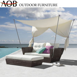 حديث خارجيّ حد فندق منزل أثاث لازم [ب] [رتّن] يرقد شاطئ ردهة [سونبد] [دبد] مع خيمة مظلة