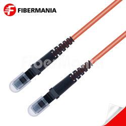 1M MTRJ-MTRJ/PC/PC Duplex Ofnr multimode de 62,5/125 Om1 Câble de raccordement à fibre optique 3.0mm Orange