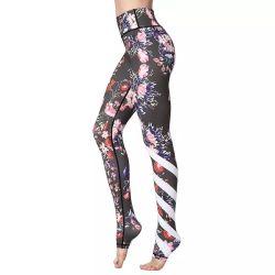 O desporto de alta qualidade Perneiras Ginásio Mulheres Fitness Calças de ioga por sublimação de tinta