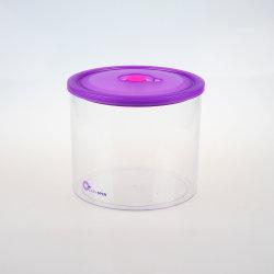 気密の食品等級のゆとりのふたが付いているプラスチック食糧容器の小さなかん