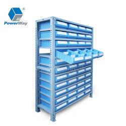 Cajón de anaquel de plástico piezas de repuesto para estantería estantería