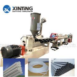 Der flexible Plastik HDPE/PP/PVC/PPR sondert/doppelte Schrauben-gewellter/gewundener Rohr-Rohr-Gefäß-Schlauch-umwickelnde Wicklungs-Strangpresßling/Extruder/Herstellung des Schnitts der Belling Maschine aus