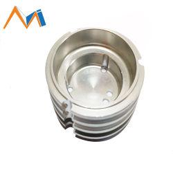 Qualität Soem passte Aluminium Birnen-Ersatzteile des Druckguß CNC-maschinell bearbeitenteil-Licht-Standplatz-LED der Unterseiten-LED an