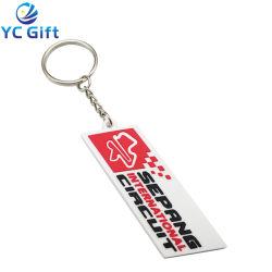 Venda por grosso de venda quente Soft borracha PVC 2D decoração Logotipo Localizador de chave Custom Sport Loja Produto promocional Empresa Keytag comemorativa de Viagem Fashion Chaveiro