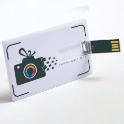 512 МБ, 8 ГБ пластиковых кредитных карт USB-белый USB-Business Card