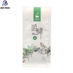 Recycler Pbat biodégradable compostable des sacs en papier de riz avec fermeture à glissière