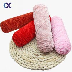 고밀도 18s/1 손 뜨개질을 하기를 위한 진한 액체에 의하여 염색되는 셔닐 실 털실