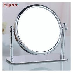Recto-verso Fyeer loupe de table en laiton rotative miroir de maquillage