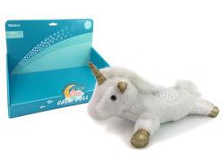 軽い投射および音楽プラシ天のおもちゃ動物が付いている美しい詰められたユニコーンの平静の人形
