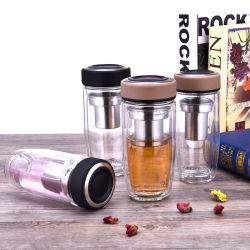 Fles van het Glas van Infuser van het Roestvrij staal van Wevi de bPA-Vrije Opnieuw te gebruiken met Dekking