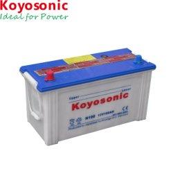 JIS N100 12V 100Ah cargada la batería de coche en seco la celda de la batería automotriz carretilla batería de almacenamiento de automóviles de batería de coche