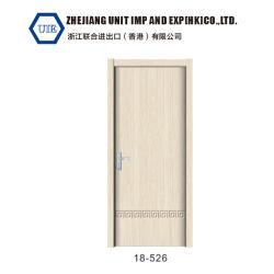Цельная древесина скелет пленка ПВХ MDF с покрытием плата композитных внутренние ручки дверей 18-526