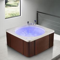 Lumière LED colorées Kingkonree avec jet d'air baignoire de massage autostable