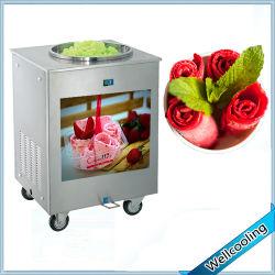 Hot Selling roestvrijstalen Fry Ice Cream machine CE-goedgekeurd Eén pan