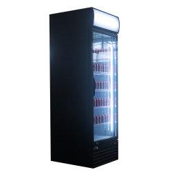 Affichage vertical de boissons gazeuses commerciale porte en verre avec contrôleur numérique de refroidisseur