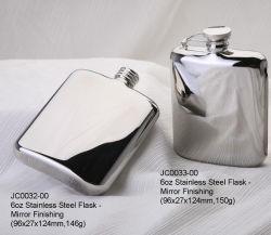 Rifinitura Hip dello specchio della boccetta del grado attuale fantastico dell'acciaio inossidabile 304 con il sacchetto di cuoio