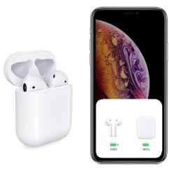 Горячая Продажа 1: 1 Формат высокого качества беспроводной связи Bluetooth наушников для Apple наушники с помощью всплывающего окна функция Bluetooth наушники-вкладыши