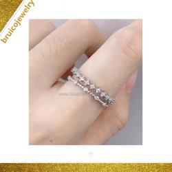 주문을 받아서 만들어진 도매 은 Fashion Ring 보석 숙녀 단순환