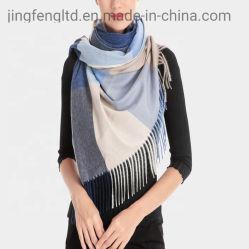 Tejidos de lujo impreso invierno bufanda de lana de cachemir de Mujeres