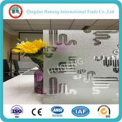 Кислота Anti-Fingerprint выбиты стекла с цветочного дизайна
