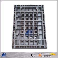 頑丈な鋳造物の固体上、具体的なInfillが付いている延性がある鉄600-3の500-7マンホールカバー、下水道のために、豪雨による雨水