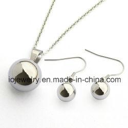 Полый шарик ювелирных изделий серьги подвесной ожерелья Набор ювелирных изделий из нержавеющей стали