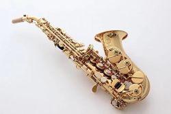 Saxophone soprano courbé R54 Sax Corps en laiton avec étui Saxophone Bend touches Pearlish Soprano Saxphone Sachs réplique fondée sur le saxophone