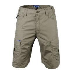 Ejército de cintura alta carga de trabajo pantalones cortos pantalones cortos para los hombres
