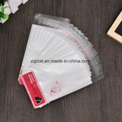 머리말을%s 가진 Customzied 투명한 OPP에 의하여 인쇄되는 자동 접착 비닐 봉투
