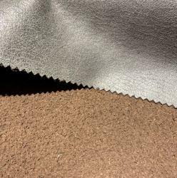 Nueva tapicería clásica frustrado acudiendo Suede para muebles Sofa tela Suede