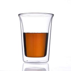 Ab58b86 de de Hittebestendige Dubbele Thee van het Glas van de Muur/Kop van de Koffie/van de Melk/van het Bier/Reeks/Mok