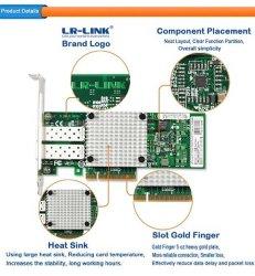 Lr-Link PCI Express*8 Dual 10g Carte réseau LAN de l'adaptateur de carte NIC basé sur Intel 82599