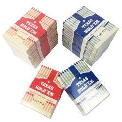 As cartas de jogar de plástico