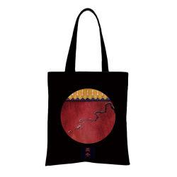 カスタマイズされた印刷の昇進の長いハンドルの戦闘状況表示板の買物客のさらさの綿のキャンバスのショッピング・バッグ