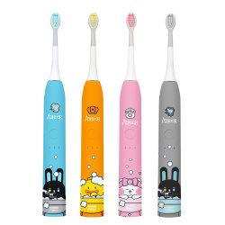 Toothbrush sonico elettrico per la stampa del fumetto del Genitore-Bambino della testa della spazzola del silicone del capretto dei bambini