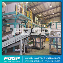 Haut La paille de blé d'effet usine de production de la Granulation de sciure de bois