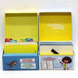 Papier Art 350gsm C2s personnalisée imprimé en anglais Cartes Cartes Flash de l'éducation pour les bébés