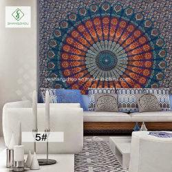 熱い販売法の印刷されたヨガのマットが付いているインドの曼荼羅の正方形のタペストリー