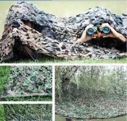 Uma verdadeira caça ao ar livre Camouflage líquidos para os militares do exército Camo Net com tampa de compensação cego Digital e deserto proteger redes de cobertura