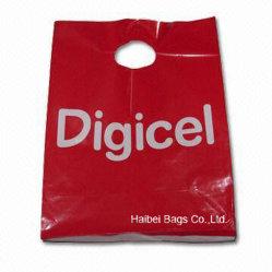 カスタマイズしなさいMOQ 5000 (HBPE-1)のYour Plastic Shopping Carrier Bagを