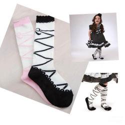 Gestrickte Baumwollmädchen-Kleid-Strumpf-Baby-Socke 100%