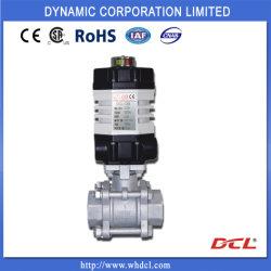 Dcl-02 мини-электрический привод для воды, жидкости или газа, четверть оборота или Multiturn, латунь шаровой клапан, 3-ходовой шаровой клапан двухстворчатый клапан, CSA/UL/CE