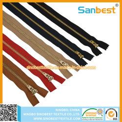 Alta Qualidade zíper de metal para peça de vestuário de tecido