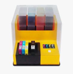 Connexion de navire Auto Chargeur d'encre, y compris 180ml Pack d'encre pour HP564, 685, 920 etc, de kits de remplissage d'encre compatible pour 4 couleur