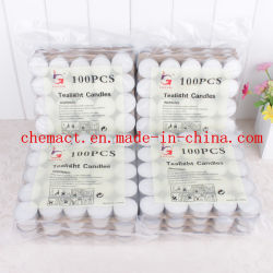 100 PCS Tealight branco baratas velas no saco plástico